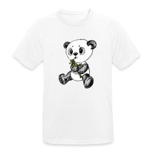 Panda bjørn farvet scribblesirii - Herre T-shirt svedtransporterende