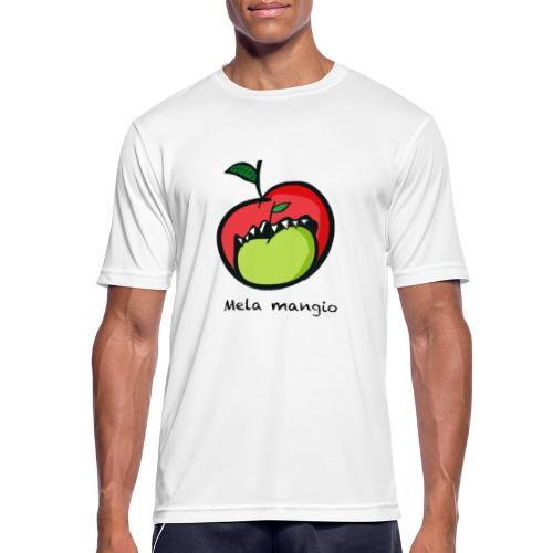 Angry for apple-Mela mangio - Maglietta da uomo traspirante