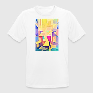 TRINITY geometric painting retro style pastel - Men's Breathable T-Shirt
