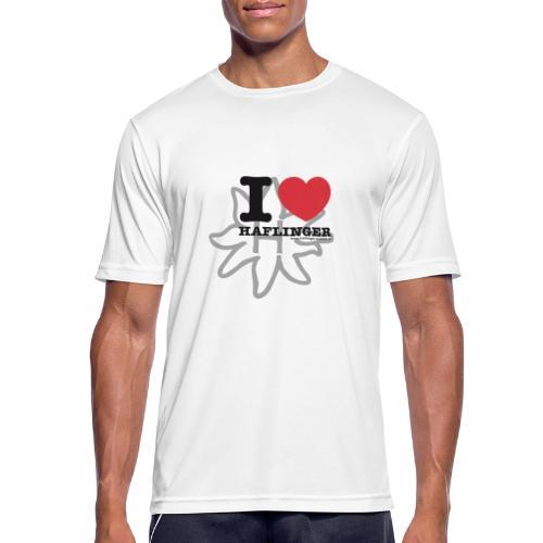 I love Haflinger - Männer T-Shirt atmungsaktiv