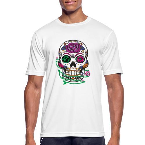 calavera 1 - Camiseta hombre transpirable