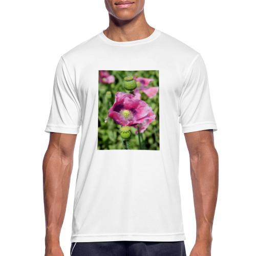 Mohnblüte - Männer T-Shirt atmungsaktiv
