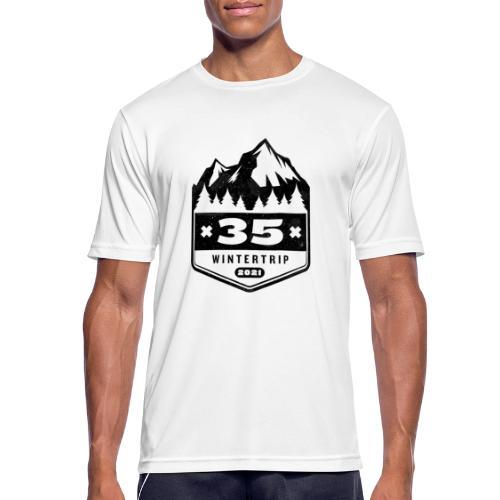 35 ✕ WINTERTRIP ✕ 2021 • BLACK - Mannen T-shirt ademend actief