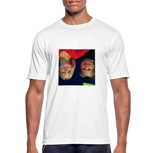 Gammelt logo - Herre T-shirt svedtransporterende