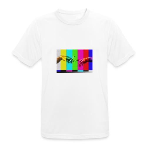 """Dzieło """"Stworzenie Adama"""" - Koszulka męska oddychająca"""