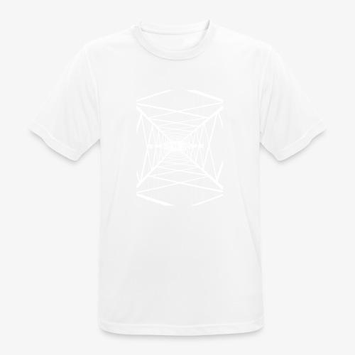 Hochmast V2 Weiß - Männer T-Shirt atmungsaktiv
