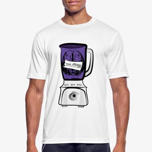 Hirn im Mixer_ lila - Männer T-Shirt atmungsaktiv