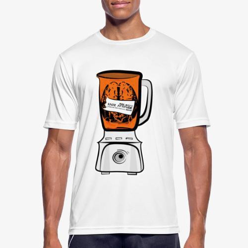 Hirn in Mixer neon orange - Männer T-Shirt atmungsaktiv