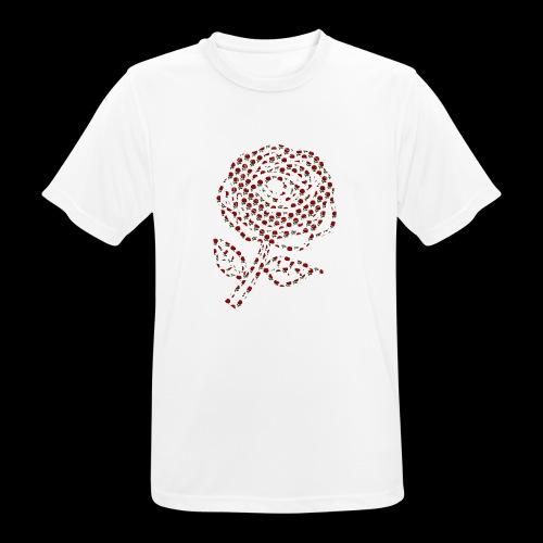 Rose aus Rosen - Männer T-Shirt atmungsaktiv