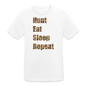 Hunt, Eat, Sleep, Repeat - Männer T-Shirt atmungsaktiv