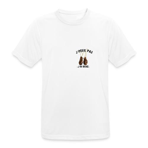 J'peux pas j'ai boxe ! - T-shirt respirant Homme