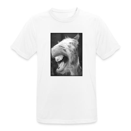 lachender Esel - Männer T-Shirt atmungsaktiv