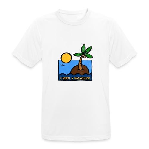 Vacation-png - Maglietta da uomo traspirante