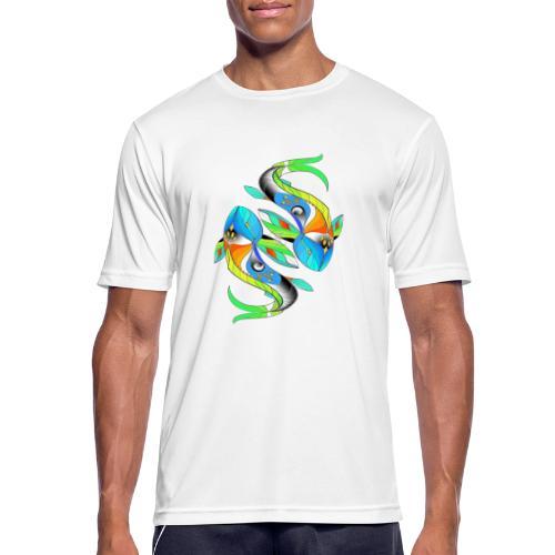 Regenbogenfische - Männer T-Shirt atmungsaktiv