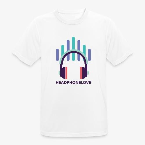 headphonelove - Männer T-Shirt atmungsaktiv