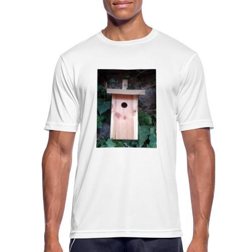 Der Nistkasten - Luxus für den Garten-Vogel - Männer T-Shirt atmungsaktiv