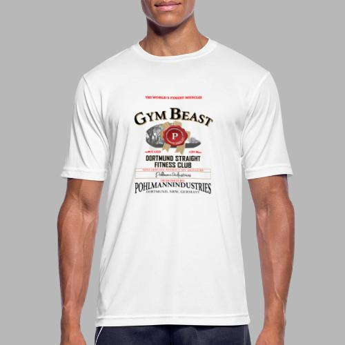 GYM BEAST - Männer T-Shirt atmungsaktiv