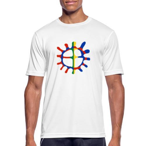 Samisk sol - Pustende T-skjorte for menn