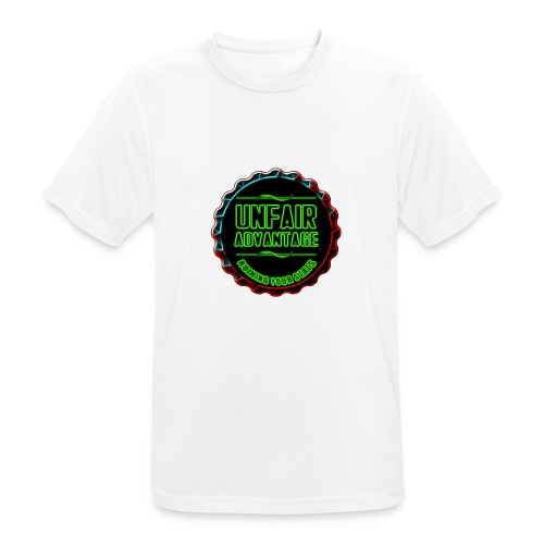 UFAV Back and Green Logo - Men's Breathable T-Shirt