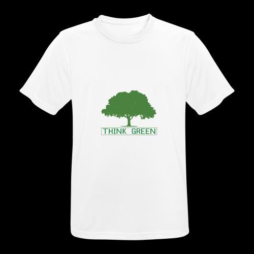 think green - Camiseta hombre transpirable