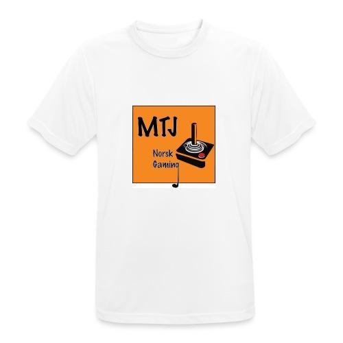 Mtj Logo - Pustende T-skjorte for menn