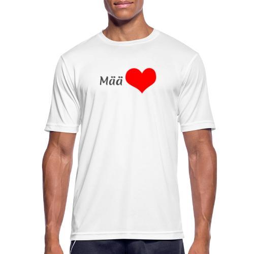 Mää sydän - miesten tekninen t-paita