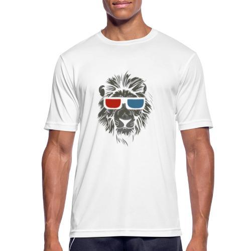 Lion 3D - Andningsaktiv T-shirt herr