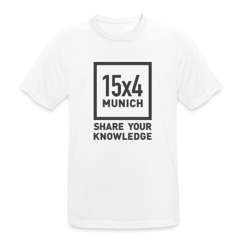 Share your knowledge - Männer T-Shirt atmungsaktiv