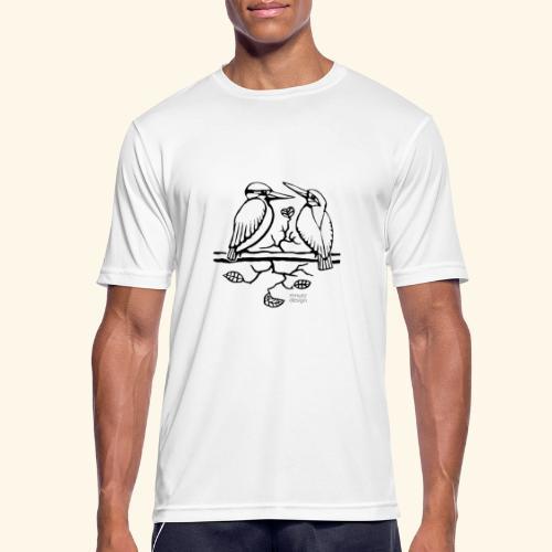 Eisvogel Liebe - Männer T-Shirt atmungsaktiv