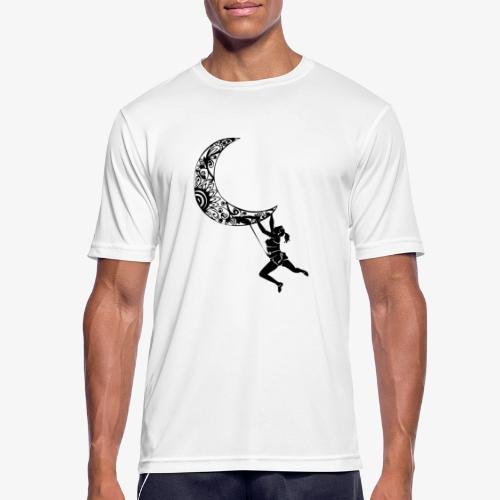 Climbing Woman Girl moon - Climber on the moon - Men's Breathable T-Shirt
