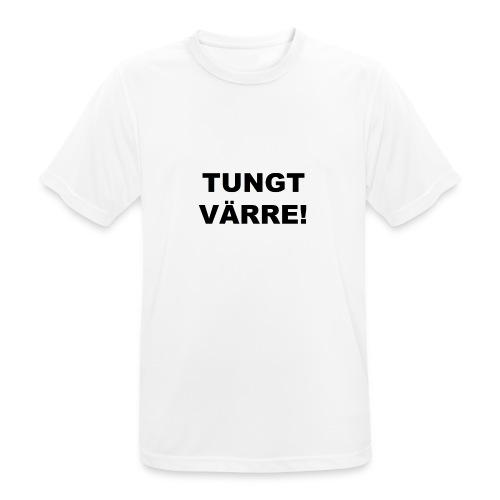 TUNGT - Andningsaktiv T-shirt herr