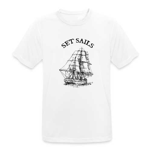 bridgeport set sails - Männer T-Shirt atmungsaktiv