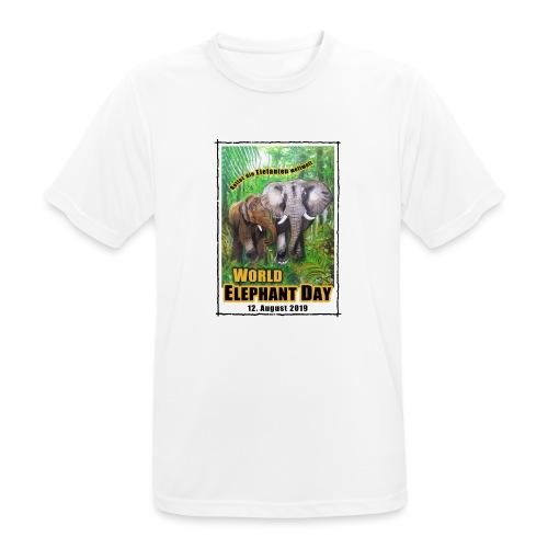 Welt-Elefanten-Tag 12. August 2019 - Männer T-Shirt atmungsaktiv