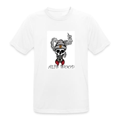 Alps Wood Lumberjack mit Logo - Männer T-Shirt atmungsaktiv