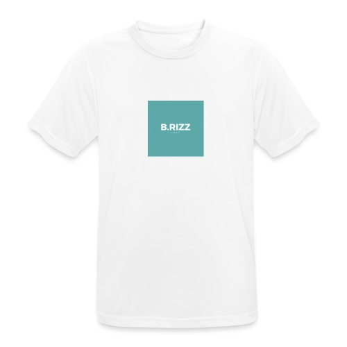 Brizzclothing green white tee - Men's Breathable T-Shirt