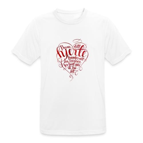 Bevar ditt hjerte - Pustende T-skjorte for menn