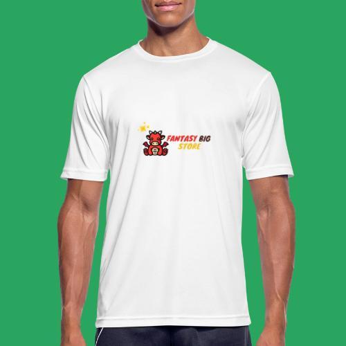 Fantasy big store - Maglietta da uomo traspirante