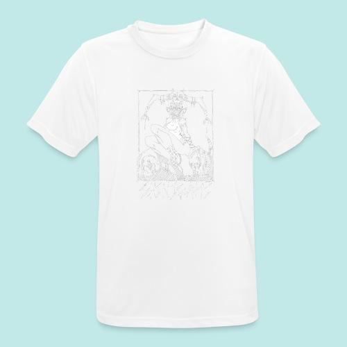 Femme elfe crâne mort dark rock Blanc - T-shirt respirant Homme