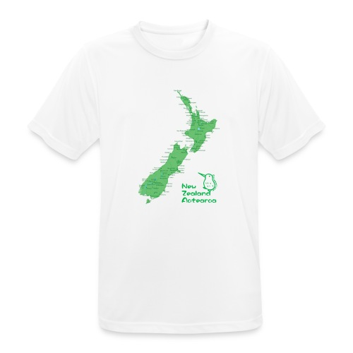 New Zealand's Map - Men's Breathable T-Shirt