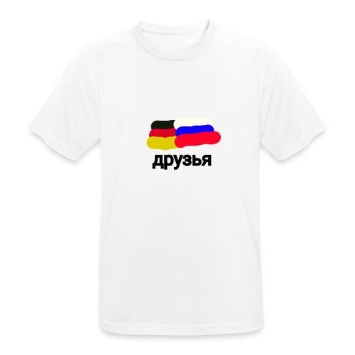 друзья /Deutsch - Russische Freundschaft - Männer T-Shirt atmungsaktiv