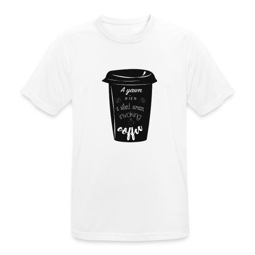 Coffee - Maglietta da uomo traspirante