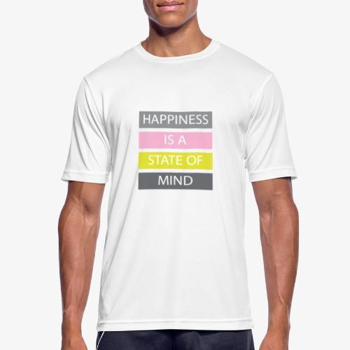 Happiness - Maglietta da uomo traspirante
