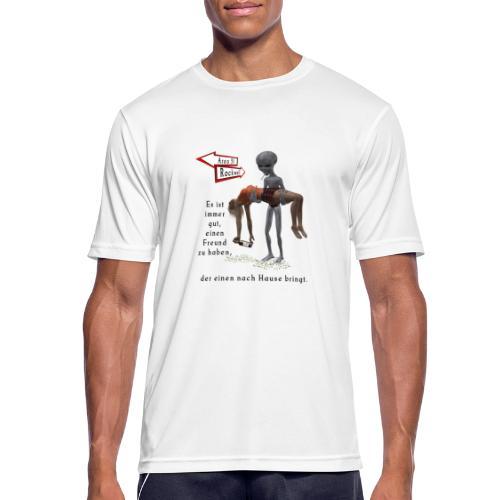 Grey Alien - Männer T-Shirt atmungsaktiv
