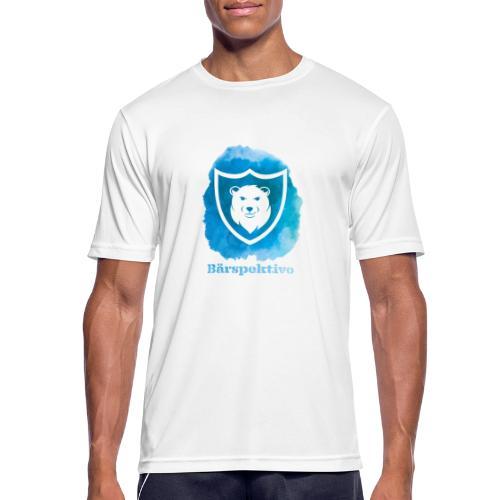 Baerspektivo inkl. Schriftzug in Blau Aquarell - Männer T-Shirt atmungsaktiv