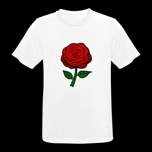 Rote Rose - Männer T-Shirt atmungsaktiv
