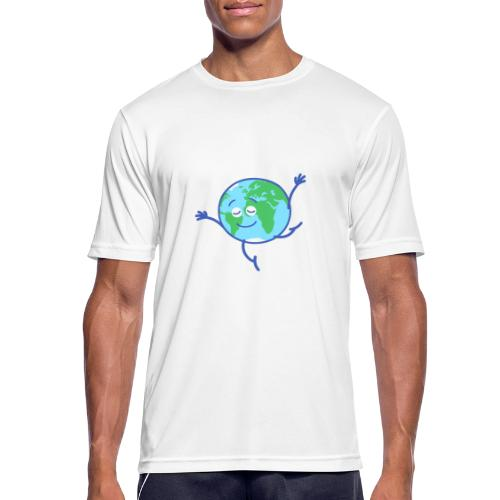 Cute planet Earth dancing graciously - Men's Breathable T-Shirt