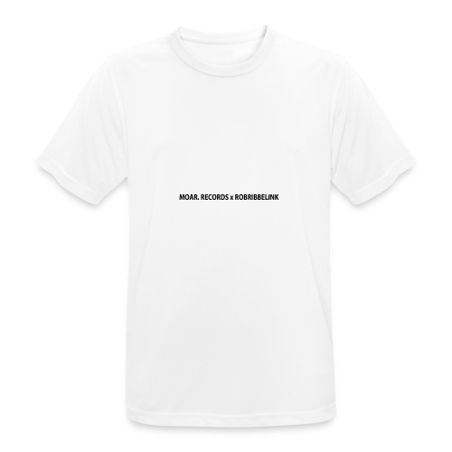 MOAR. Records x RobRibbelink phone case - Men's Breathable T-Shirt