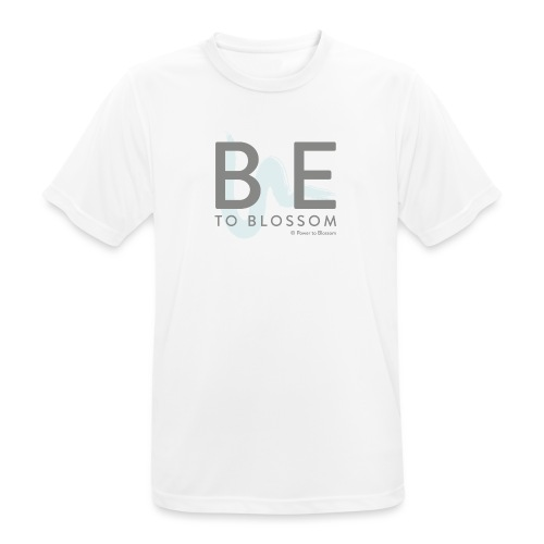 Be to blossom with swoosh (gray) -Power to Blossom - Men's Breathable T-Shirt