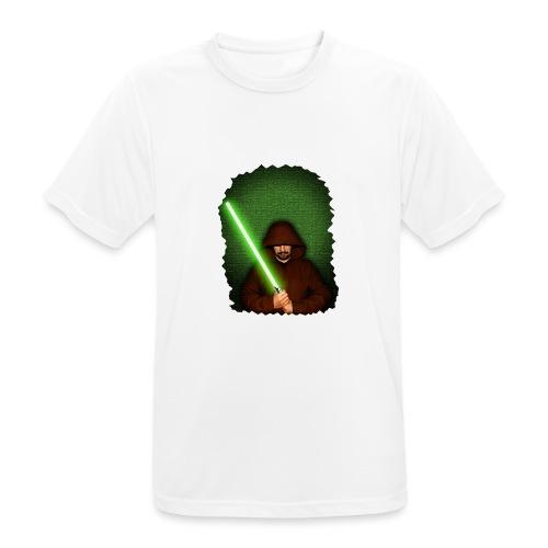 Jedi warrior with green lightsaber - Maglietta da uomo traspirante