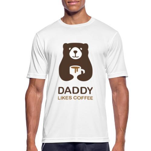 Papa aime le café - T-shirt respirant Homme